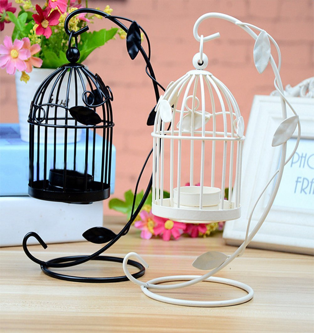 LAAT Candle Holder Birdcage-shape Metal Tealight Lanterns LED Wedding ChristmasTable Home Decoration by LAAT (Image #4)