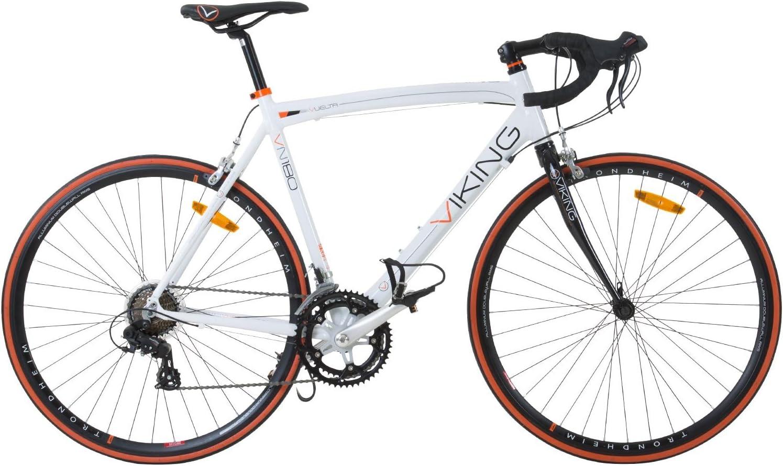700c 28 Zoll Rennrad Viking Vuelta Sti 4 Rahmengrößen 2 Farben Rahmengrösse 50 Cm Farbe Weiss Orange Amazon De Sport Freizeit