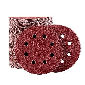 Klett Schleifscheiben 125 mm Exzenterschleifer Schleifpapier Set 8 Loch Packung
