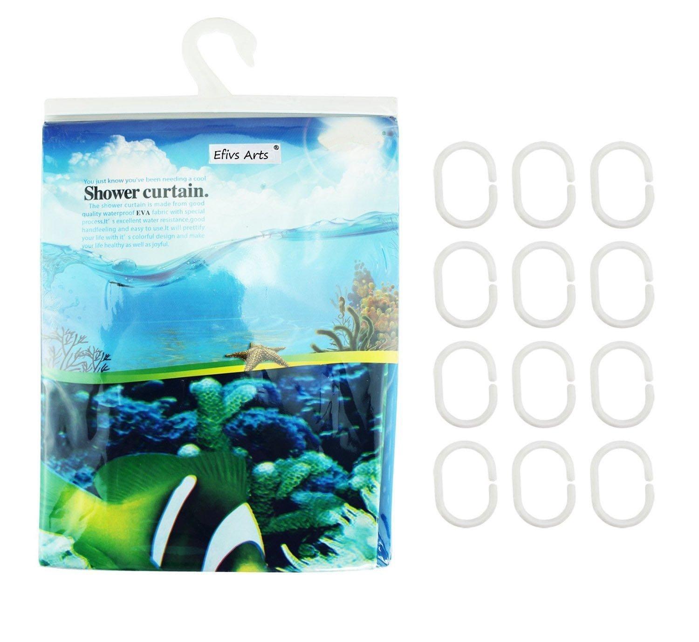 SKL Dauphins Poissons tropicaux Corail Th/ème de loc/éan Rideau de Douche avec 12 Crochets Multicolore