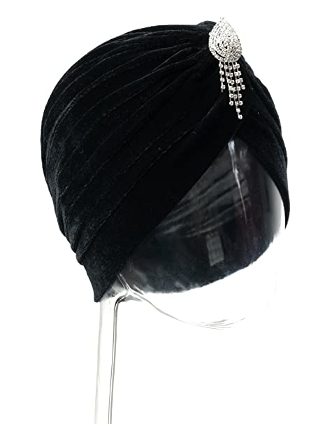 Vintage Hair Accessories: Combs, Headbands, Flowers, Scarf, Wigs Vintage 20s 30s 50s Twist Pleated Velvet Knotted Stretch Turban Hat Head Wrap $10.29 AT vintagedancer.com