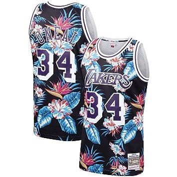 Camiseta De Baloncesto para Hombre Los Angeles Lakers 34 ...