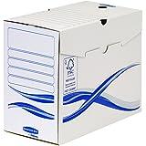 Bankers Box 4460302 Scatola Archivio A4 Basic, Dorso 150 mm, FSC, Confezione da 25 Pezzi