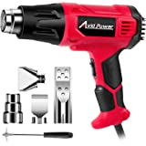 Avid Power Heat Gun, Heavy Duty Hot Air Gun 1800W with Dual Temperature Settings (716℉/1205℉), 4-pc Nozzle Attachments…