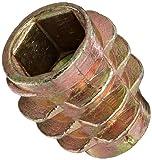 E-Z Lok Threaded Insert, Zinc, Hex-Flush, M6-1.0