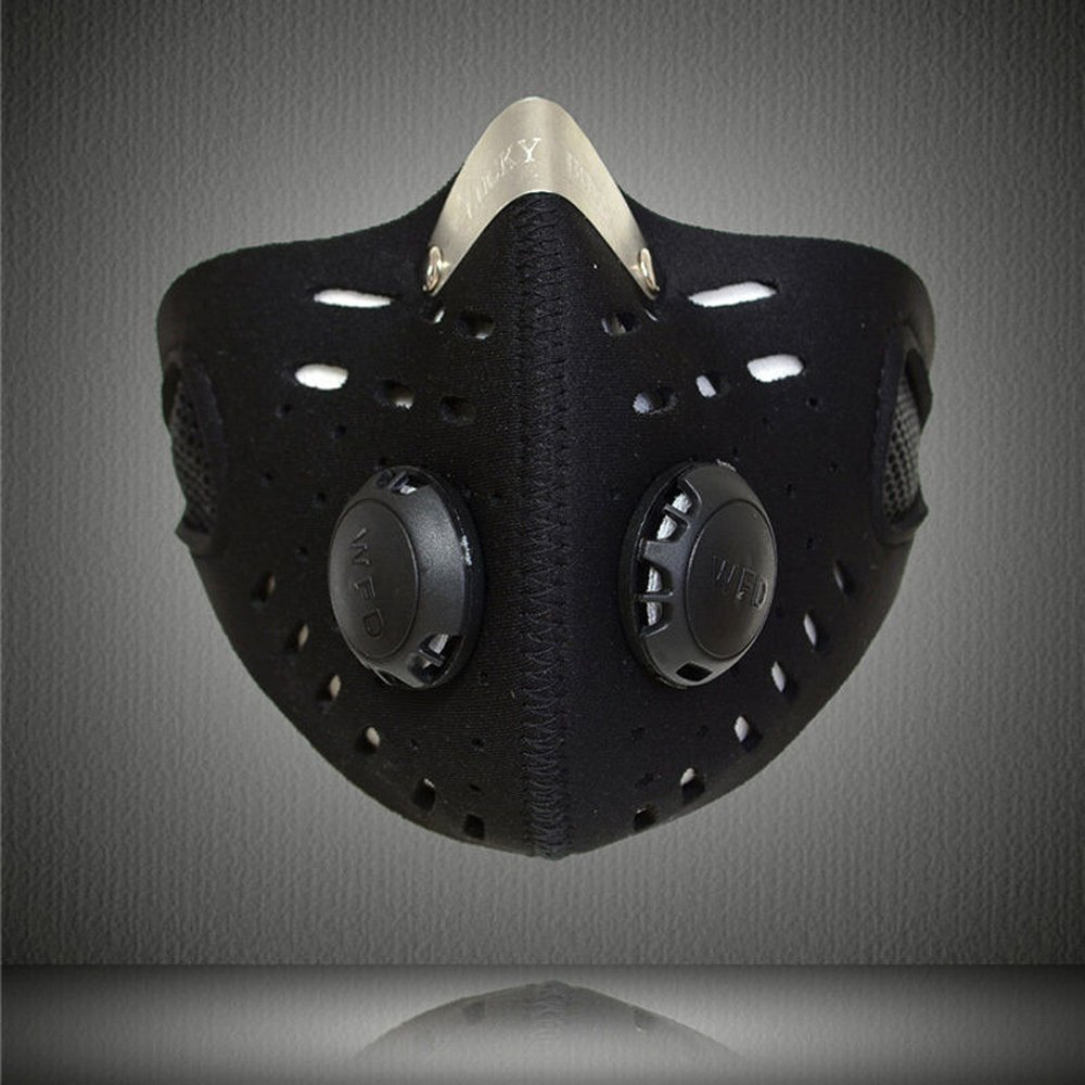 ESUPPORT Black Anti Dust Motorcycle Bicycle Cycling ATV Ski Half Face Mask Filter