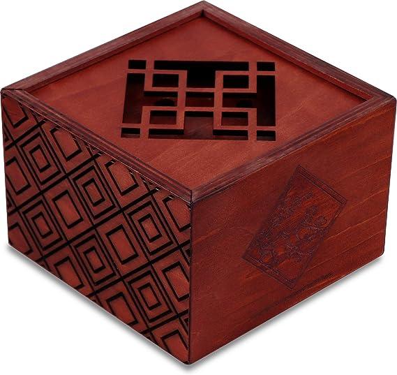 Secret Box Plum Blossom. Rompecabezas de Madera. Caja de Seguridad. Apertura Secreta.: Amazon.es: Juguetes y juegos