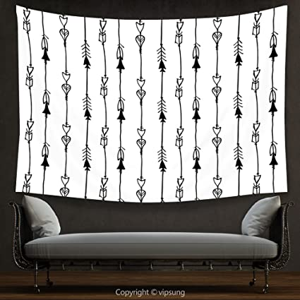f2226cee0eb90 House Decor Tapestry Arrow Decor Hand drawn Linked Endless Arrows Pattern  Vintage Tribal Icons Native Vulture