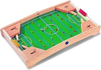 Fútbol – Flipper de Pintoy – 60 cm – Natural belassenes juguete de madera maciza – Juego de habilidad para