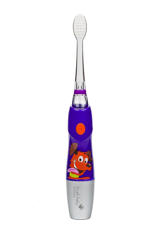 Purple Includes 3 Brush Heads Brush-Baby KidzSonic Electric Toothbrush 6 Years