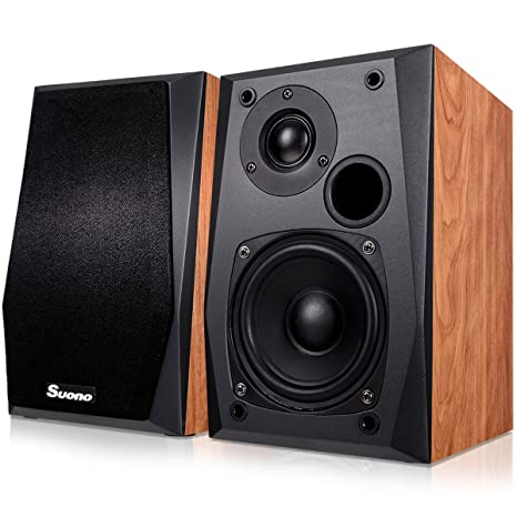 Costzon Powered Bluetooth Bookshelf Speakers Active Studio Monitor Speaker With Tweeter Woofer USB