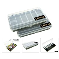 Small Green Cantilever Fishing Tackle Tough Box. Choose 1 or 2 Boxes For a Great Saving!