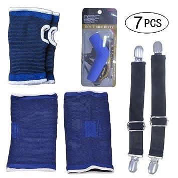 Biker Motorcycle Pant Leg Clamps straps clips holder ryder Stirrups ADJUSTABLE