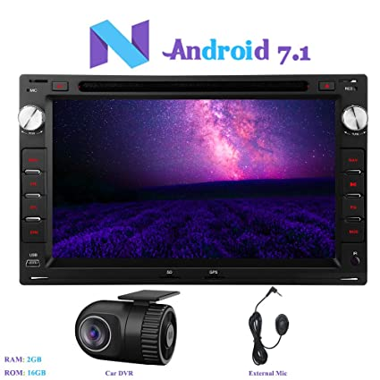 """Android 7.1 Autoradio, Hi-azul 2 Din Radio de Coche 7"""" Navegación GPS"""