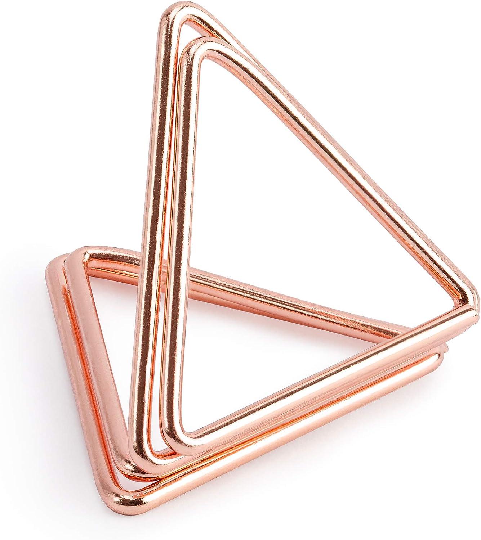 G/én/érique 10 Supports Marque-Places Triangles Rose Gold 2,3 cm