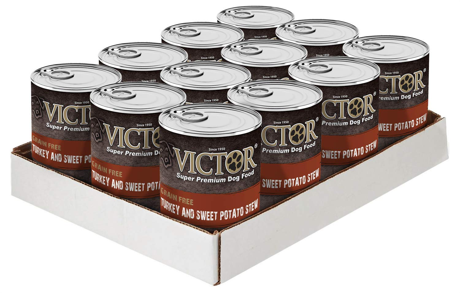 Victor Grain Free Turkey Sweet Potato Stew Dog Food – Canned, 12 13.2 Oz. Cans