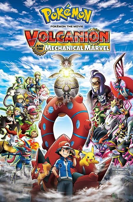 amazon com posters usa pokemon volcanion and the mechanical