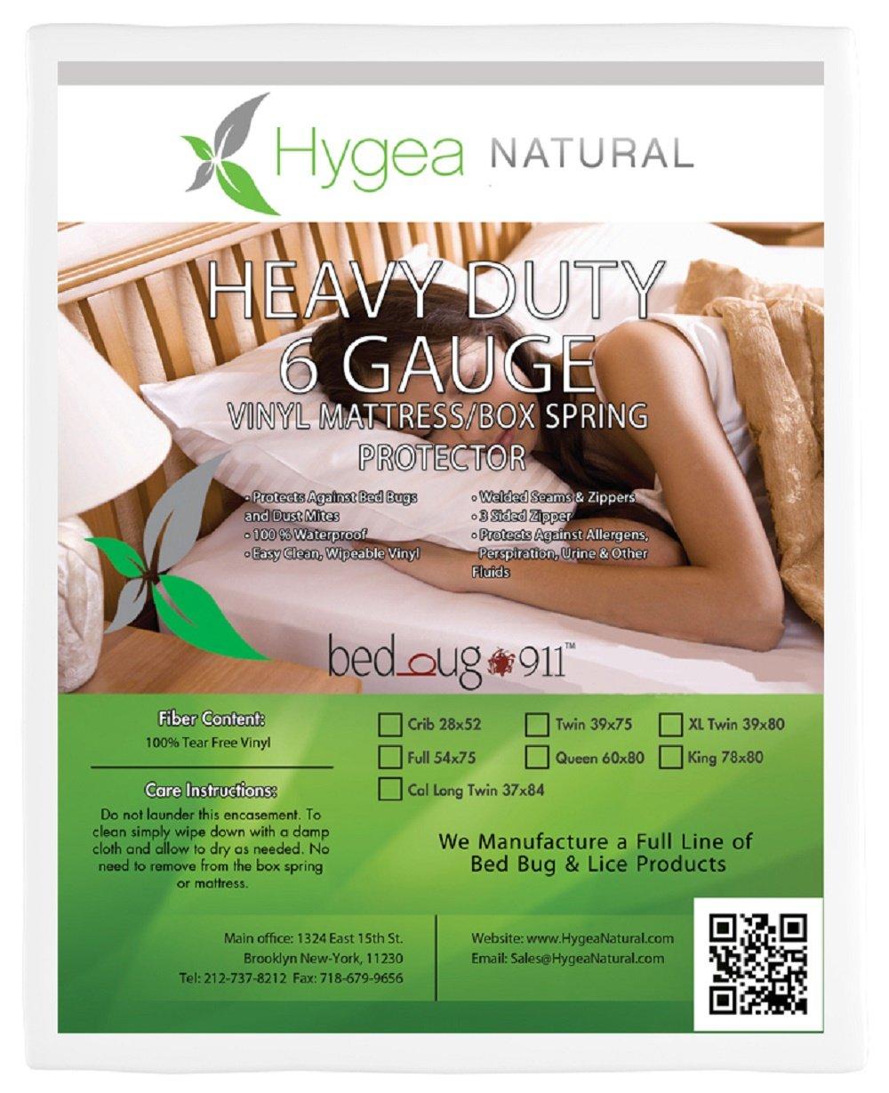 Hygea Natural | Vinyl | Bed Bug Box Spring Cover, Mattress Cover - Size XL Twin California King