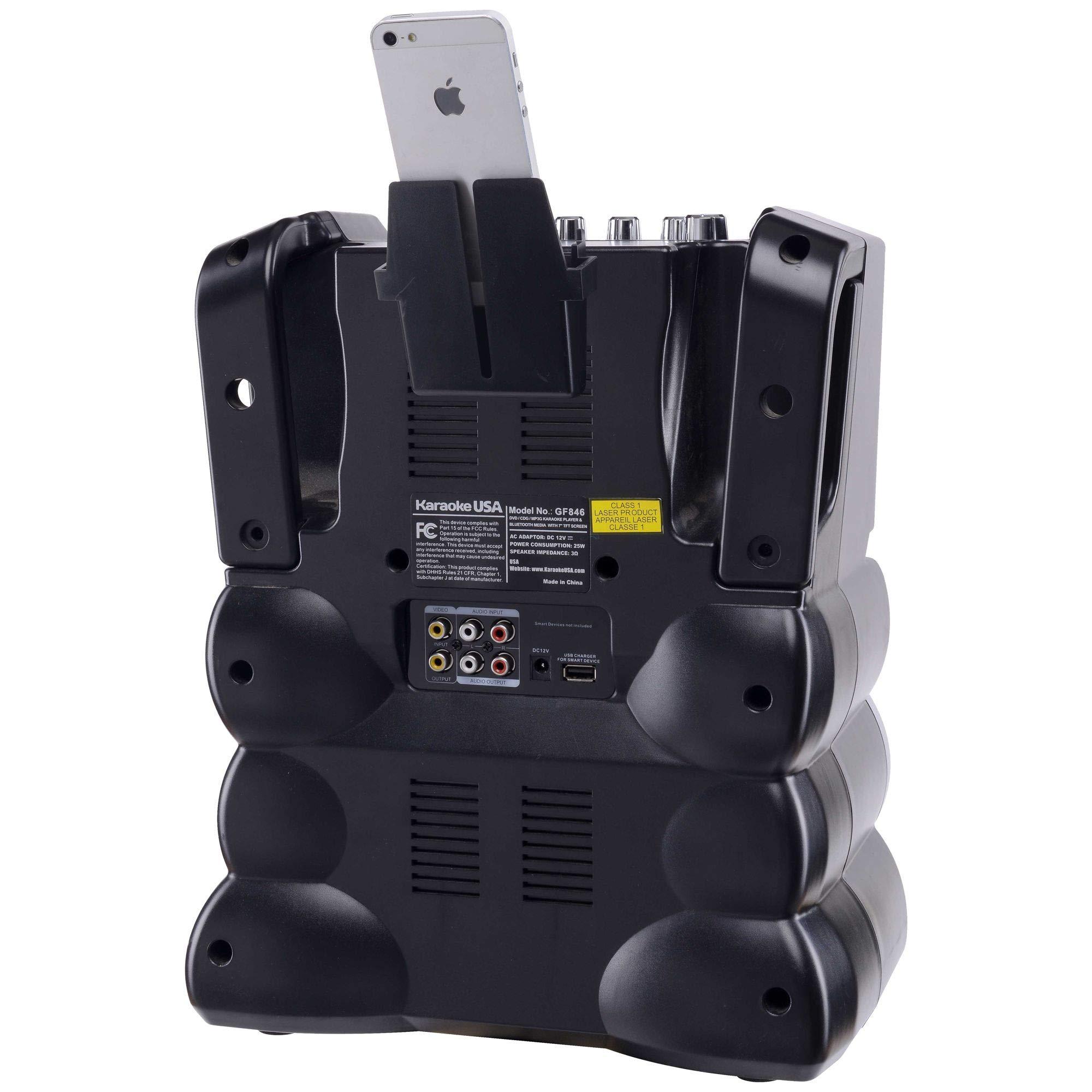 Karaoke USA GF846 DVD/CDG/MP3G Karaoke Machine with 7'' TFT Color Screen, Record, Bluetooth and LED Sync Lights by Karaoke USA (Image #7)