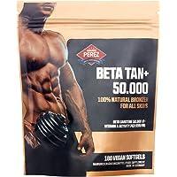 BETA Tan +/50.000IE Beta Carotene per dose, 180soft gelvegano, 100% naturale abbronzante per tutte le pelli