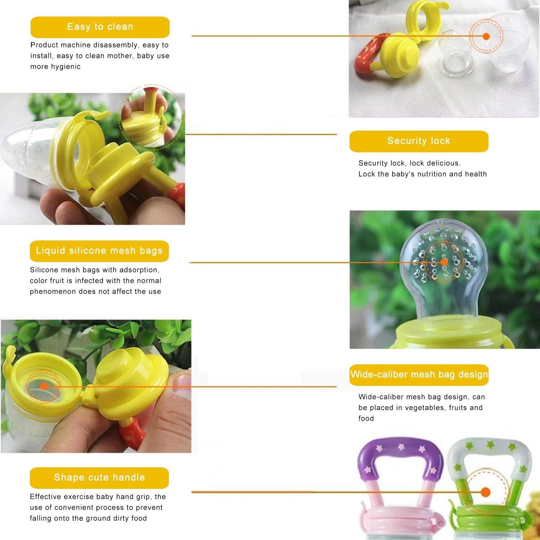 Xiton Mordedor Juguete Maniquí Niño Fresco Fruta y Cuchara de bebé: Amazon.es: Juguetes y juegos