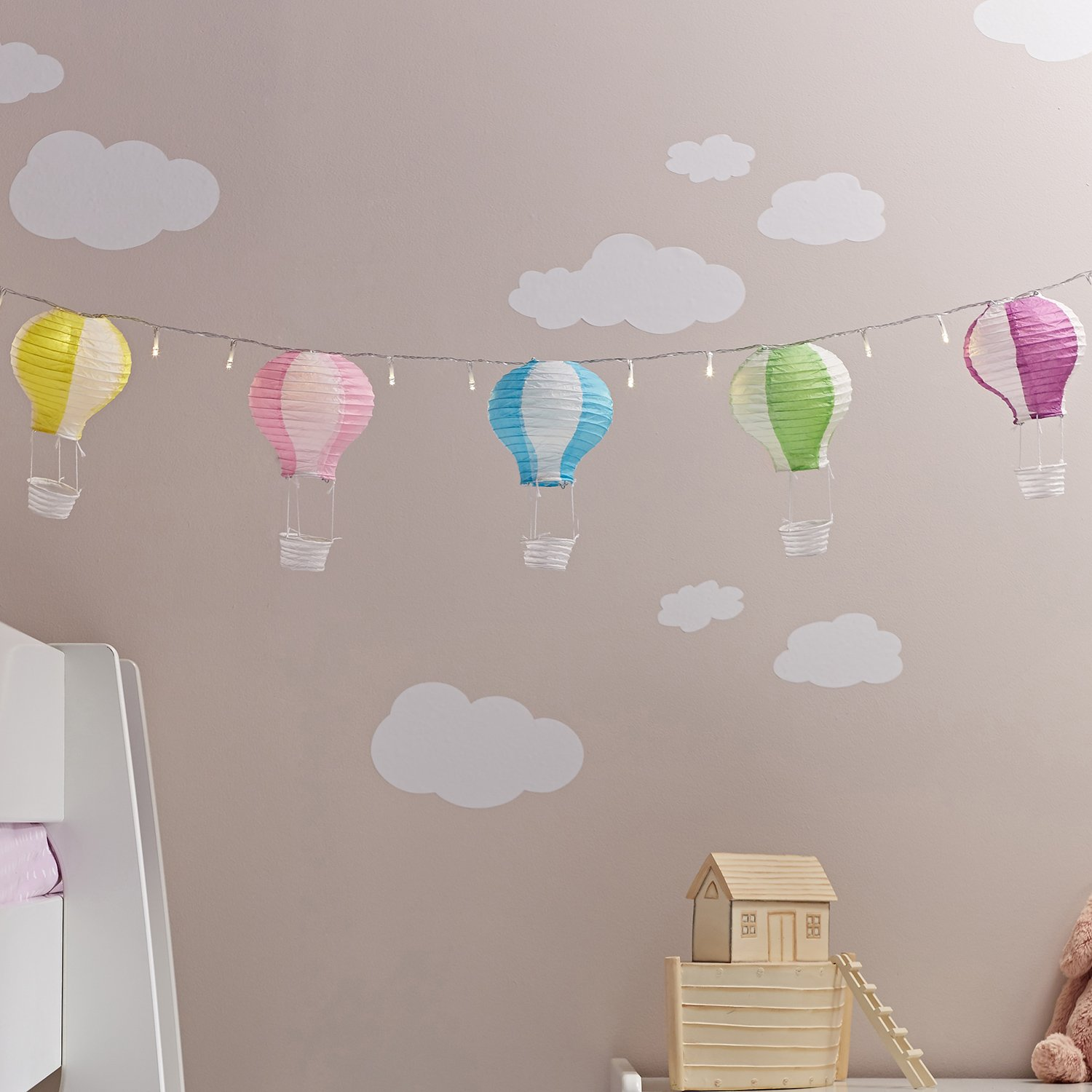 Heißluftballon Deko Kinderzimmer Deko Lights4fun: Amazon.de: Küche ... | {Babyzimmer deko 80}