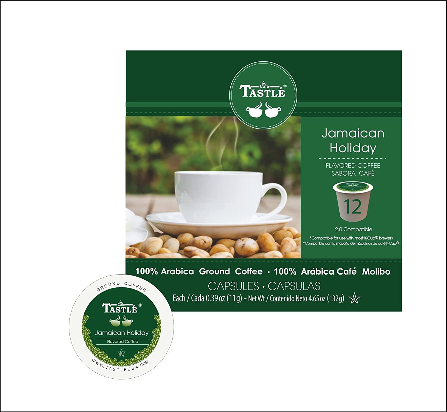 Amazon.com : Cafe Tastlé Jamaican Holiday Single Serve Coffee, 72 Count (Pack of 6) : Grocery & Gourmet Food