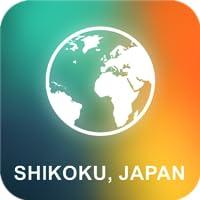 Shikoku, Giappone Mappa