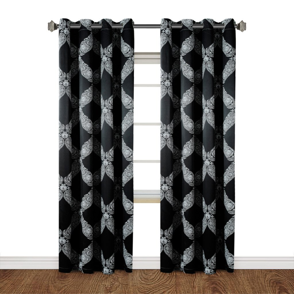 H.Versailtex Soft and Smooth Printed Energy Saving Blackout Curtains