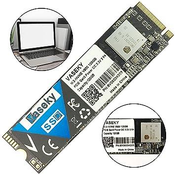 Vaseky - Disco Duro SSD de 120 GB M.2 PCI-e NVMe MLC 2280 M.2 SSD ...