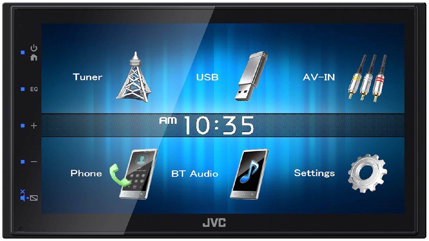 JVC KW-M24BT WVGA Digital Media Receiver mit Bluetoothmodul 17,3 cm schwarz