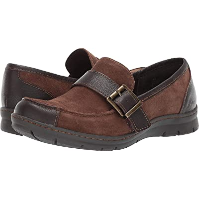 b.o.c. Womens Erna Faux Suede Buckle Loafers | Loafers & Slip-Ons