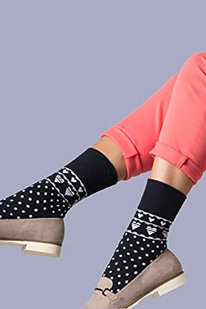 LADIES Plain Cotton LOOSE wide TOP Casual SOCKS no non elastic 3 Pair Pack
