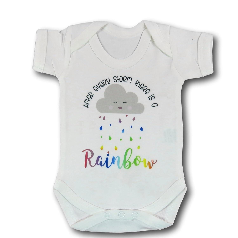 Nach jedem Storm gibt es A Rainbow Baby Vest Miracle Baby Newborn ...