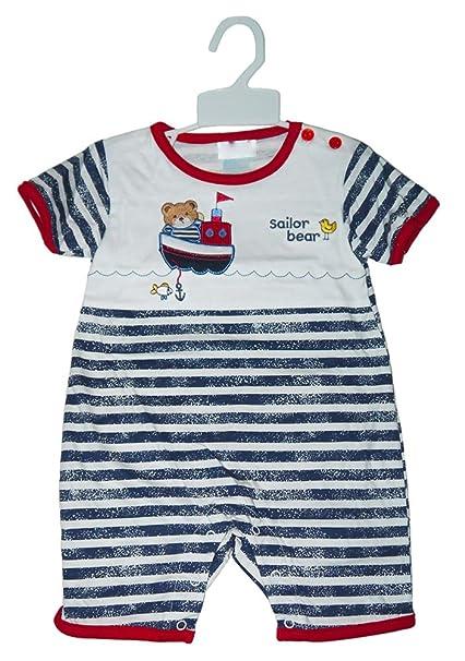 """Beau Bébé – bebé Pelele de""""marinero oso de los niños 3 – 6 meses"""