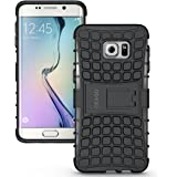 Galaxy S6 Edge+ / S6 Edge Plus Case Cover Accessories, OEAGO Samsung Galaxy S6 Edge+ / S6 Edge Plus Case - Tough Rugged Dual Layer Protective Case with Kickstand for Samsung Galaxy S6 Edge+ (Black)