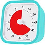 Time Timer MOD, 60 minute visual analog timer with durable silicone case and optional alert, Sky Blue