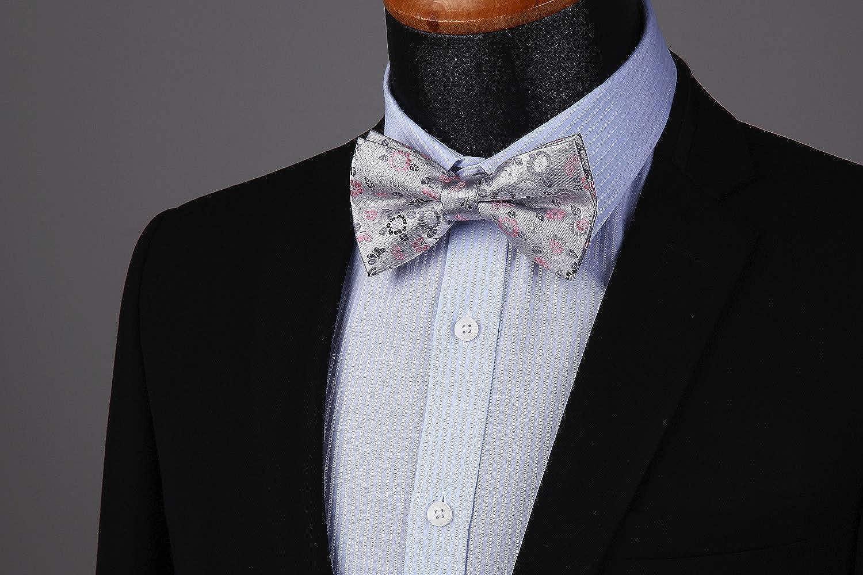 Enlision Pre-Tied Bow Tie Floral Adjustable Formal Bowties Neck Tie for Men /& Boys