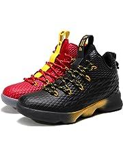 SINOES Hombre Mujer Zapatillas de Baloncesto Calzado Deportivo Al Aire Libre High-Top Sneaker Antideslizante