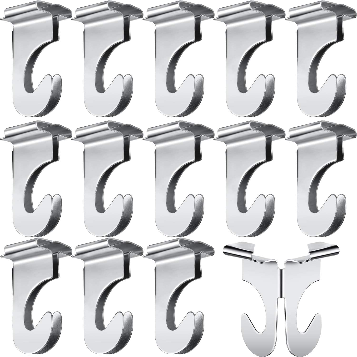 40 Pieces Metal Drop Ceiling Hooks Stainless Steel Drop Ceiling HooksT-Bar Track Clip Suspended Ceiling Hooks for Hanging Plants Office Signs Decorations