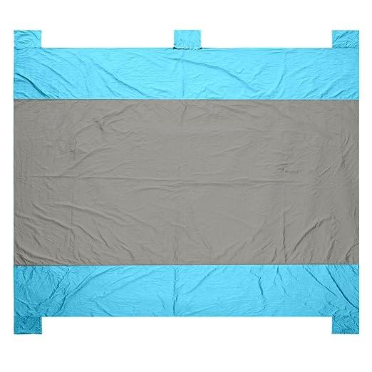 8ff0188a40 MatPro Large Sand Escape Outdoor Blanket (7 x9 ) - Huge Beach Blanket with  Four Anchor Pockets - Lightweight