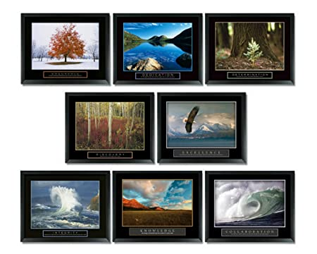 8 framed motivational posters inspirational office decor collection 22x28 inspirational office posters30 posters