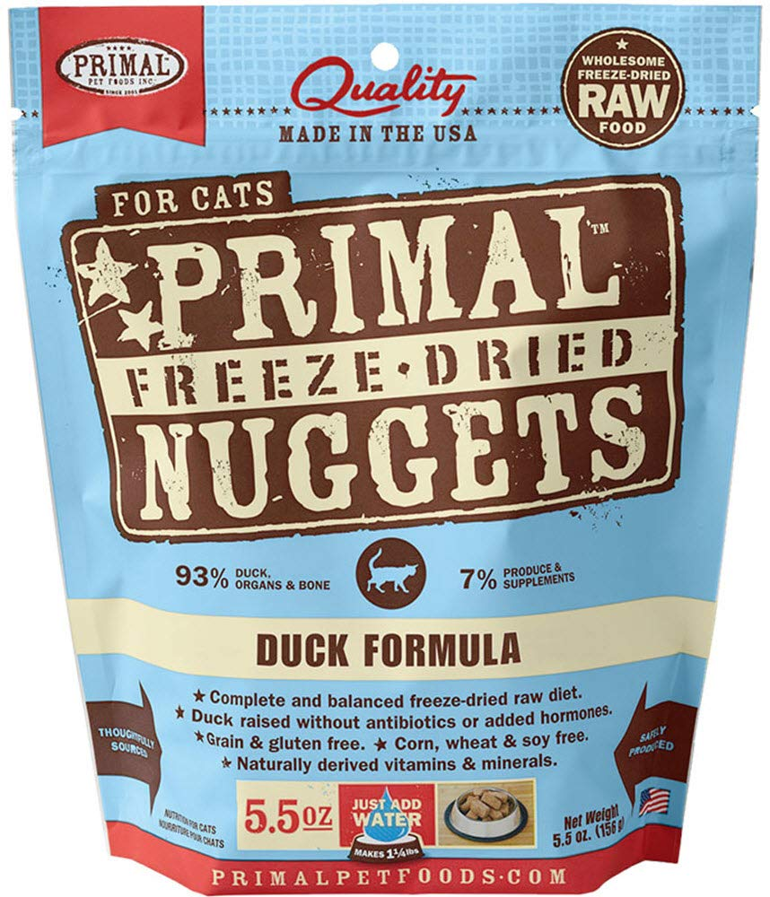 Primal Freeze Dried Cat Food - Duck Formula - 5.5 Oz. by Primal
