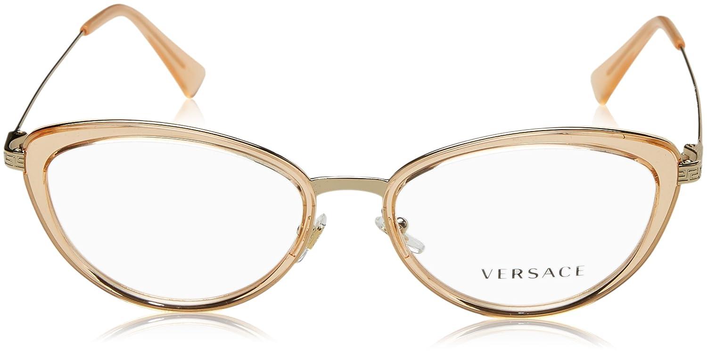 5991e5e55ffbc Amazon.com  Eyeglasses Versace VE 1244 1406 PALE GOLD ORANGE TRANSP   Clothing
