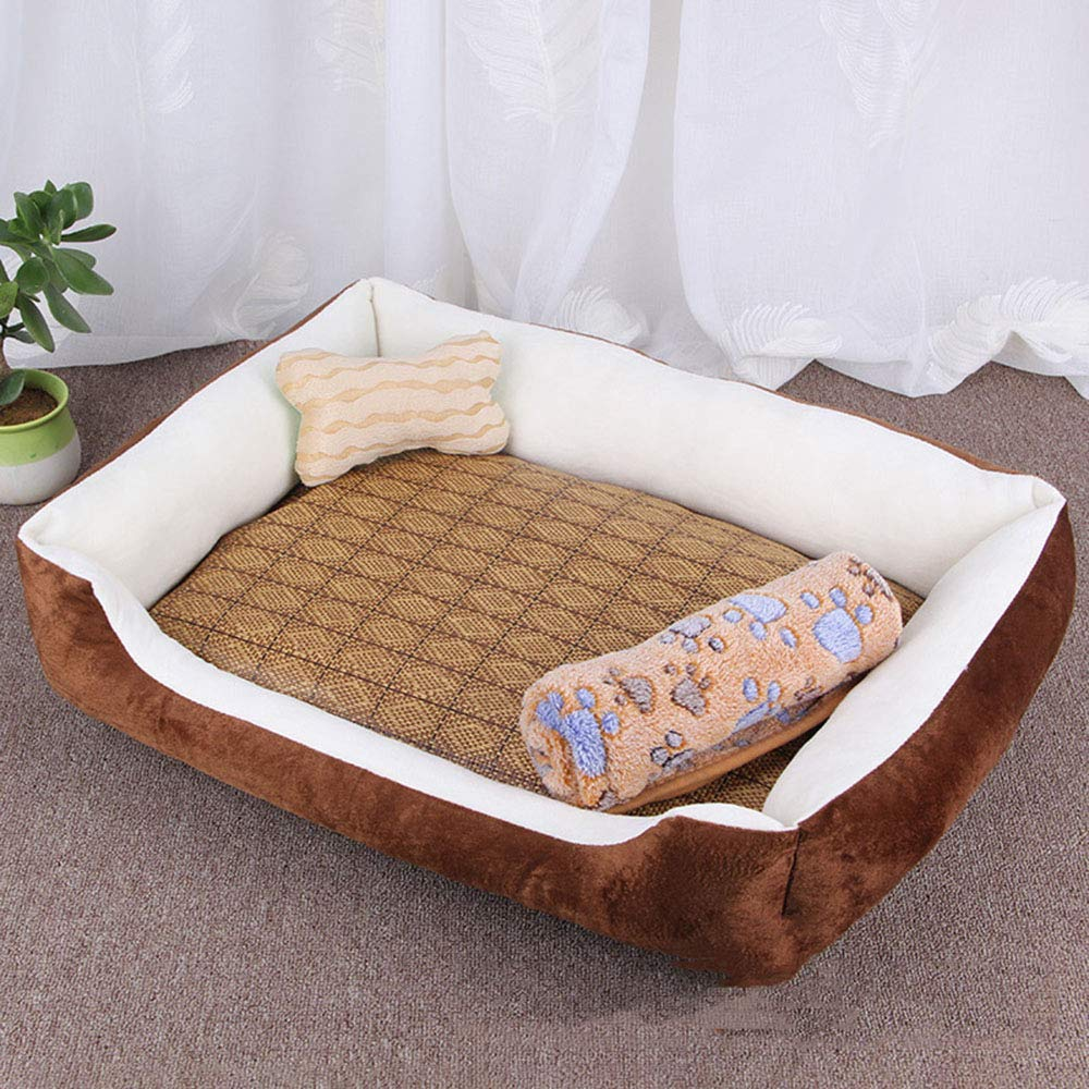 Brownfourpiece XXLargeOOLOOYOO Pet Dog Bed,Soft Material,Waterproof liner,Breathable cotton blend, removable & easy to clean. [Multiple Sizes, colors],brown,XXL
