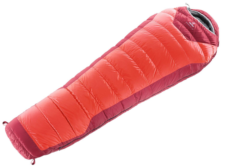 deuter(ドイター) 寝袋 ネオスフィア-10 ダウン675Fシュラフ ファイヤー×クランベリー [最低使用温度-10度] DS37521-5520 B004S73Q0M