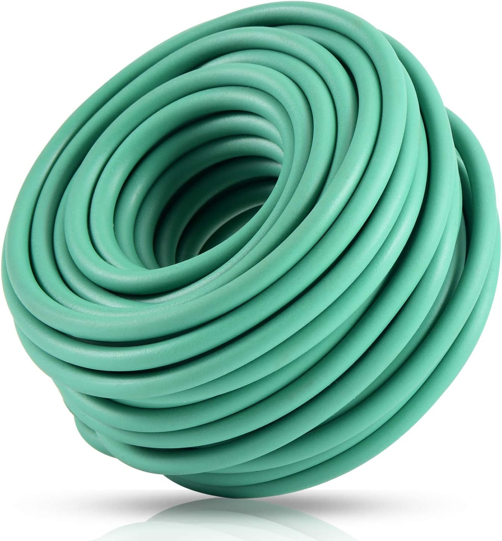 YDSL Soft Plant Tie, Garden Wire Tie for Plants Heavy Duty Reusable Plant Twist Ties for Gardening Home Office (Green, 32.8 feet)