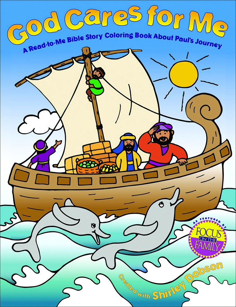 God Cares for Me: A Read-to-Me Bible Story Coloring Book about ...