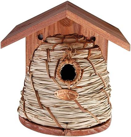 Amazon Com Esschert Design Beehive Style Birdhouse Bird Houses Garden Outdoor