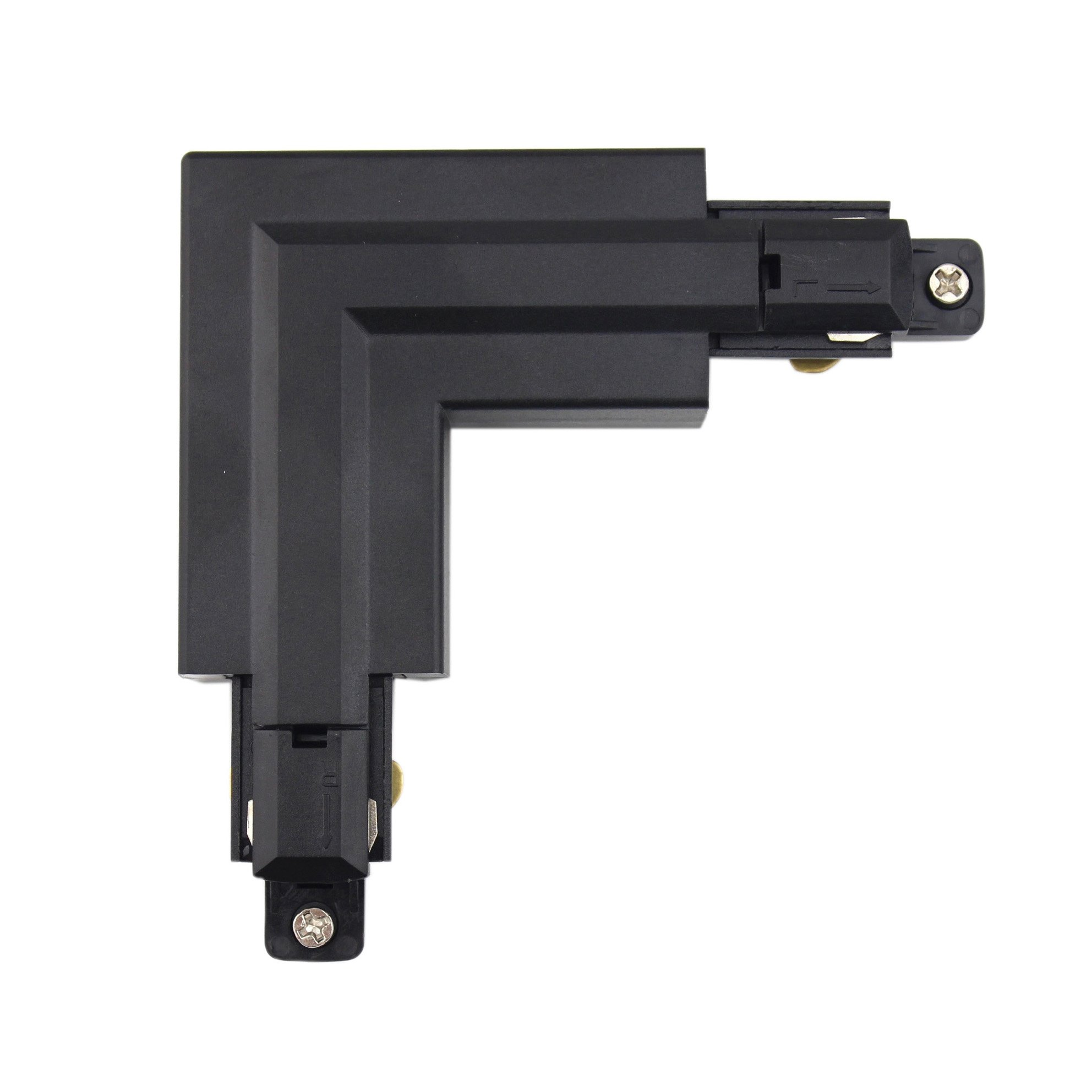 J.LUMI RAC6001 Track Light Rail L-Shape Connector, 90 Degree Angle Connection, Compatible with J.LUMI track rail RAL3002 (NOT COMPATIBLE WITH RAL1002)